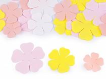 Flori din spumă Foamiran, mix mărimi