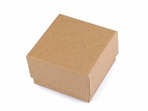 Paper Gift Box Natural 7x7 cm for Jewellery