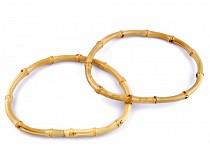 Bambusová ucha na tašky 12,5x17,5 cm silná