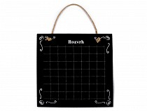 Small Chalkboard Timetable / Schedule 39.5x39.5 cm
