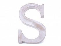 Drevené písmená abecedy vintage