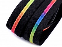 Continuous Nylon Rainbow Teeth Zipper width 6 mm