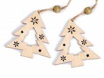 Holzdekoration Herz, Stern, Baum