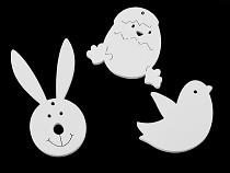 DIY Wooden Cut Outs Bunny, Chick, Bird to hang / glue