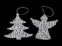 Vánoční dekorace stromeček, anděl