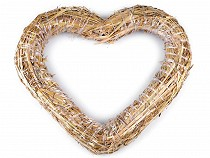 Serce ze słomy Ø37 cm