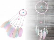 Áloműző gyöngyökkel és tollal