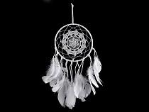 Traumfänger mit Perlen und Federn