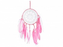 Dreamcatcher with Lace and Feathers
