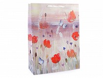 Dárková taška luční květy, velká velikost