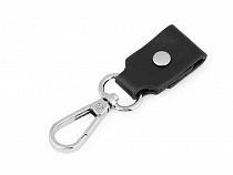 Karabina s prodloužením na kabelku / klíče šíře 22 mm