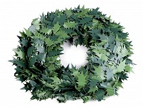 Decorative Artificial Holly Leaf Garland