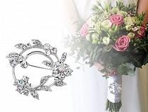 Brosche / Schmuck für Brautstrauß