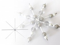 Wire Star / Snowflake for Beading DIY Ø10 cm
