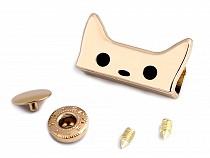 Handbag / Wallet Lock / Fastening Wuk 14x27 mm Cat
