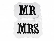 Dekoracja ślubna zawieszka MR i MRS 2 gatunek