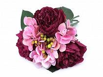 Sztuczne kwiaty piwonii, hortensji