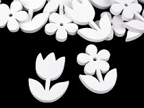 Dřevěná dekorace květy k nalepení