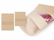 Papír zacskó nyílással natural, kicsi