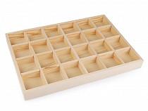 Ekspozytor drewniany do prezentacji biżuterii / koralików 24x35 cm