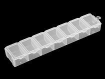 Műanyag doboz / tároló 1,8x3,4x15 cm