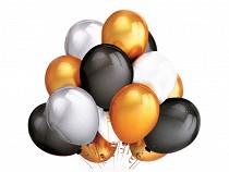 Aufblasbare Luftballons matallisch - Set