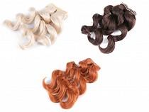 Păr ondulat / Perucă pentru păpuși, 25 cm