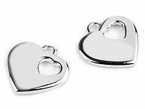 Prívesok srdce 24x24 mm 2. akosť