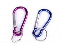 Assorted Colors Snap-Hook Key Ring 28x59 mm