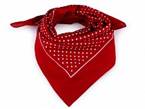 Cotton Scarf with Polka Dots 55x55 cm
