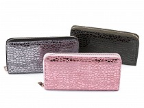 Ladies Zip Around Metallic Wallet 10x19 cm