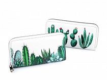 Dámska peňaženka kaktusy 10x19 cm