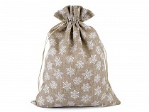 Gift Bag with Snowflakes and Glitter 30x40 cm