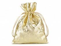 Darčekové vrecúško s lurexom hviezdy 14x18 cm