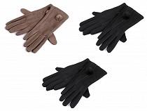 Ladies Gloves with Fur Pom Pom