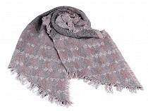 Šál zimný so strapcami 65x180 cm