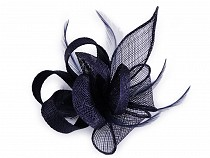 Fascinator / Brooch Flower with Feathers