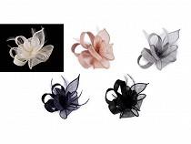 Fascinátor / brož květ s peřím