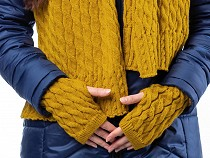 Fingerless Mittens / Gloves Cable Knit