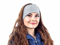 Ladies Knit Headband with Lurex