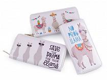 Dámská / dívčí peněženka lama