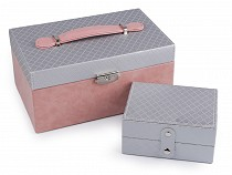 Jewellery Box 2in1 with Lock 11.5x15x24 cm