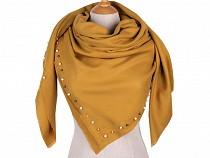 Großer Schal mit Perlen 120x120 cm