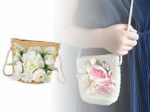 Kinderhandtasche mit Blüten 14x15 cm