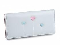 Dámska / dievčenská peňaženka srdce 9x18 cm