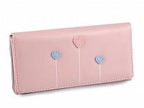 Dámská / dívčí peněženka srdce 9x18 cm