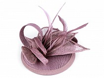 Fascinator / Brooch, Flower with Feathers