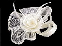 Fascinátor / brošňa kvet s perím