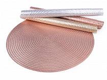 Metalické prostírání mat Ø38 cm