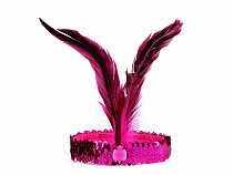Party / Carnival Sequin Retro Headband with Feathers